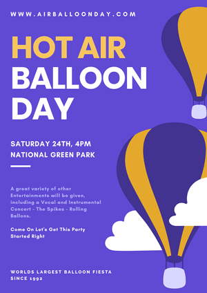 Hot Air Balloon Day Poster