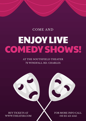 Comedy Show Poster Example