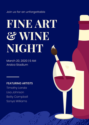 Fine Art Event Poster Example