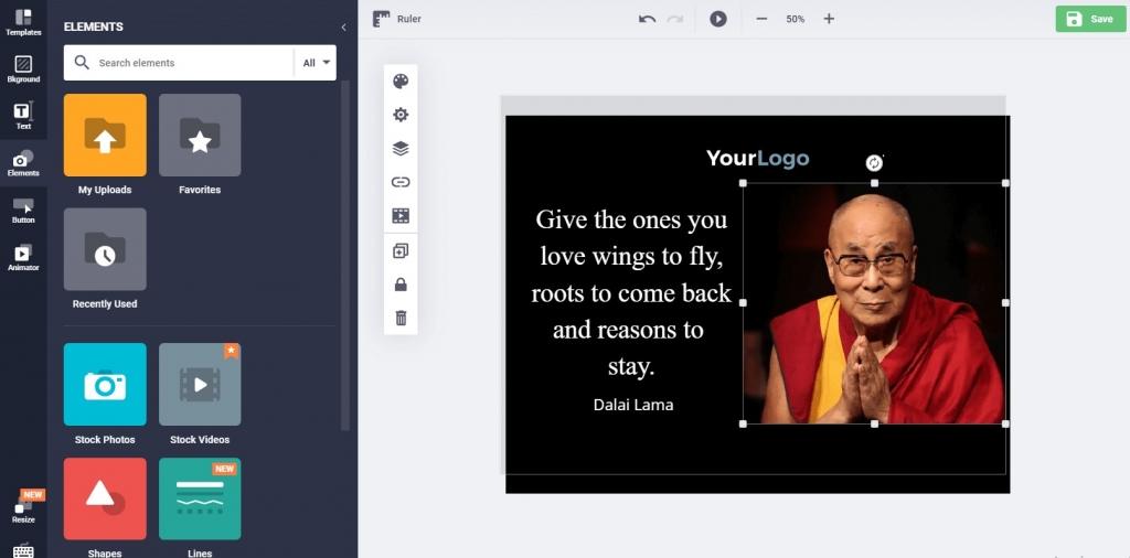 Dalai Lama Quote Template
