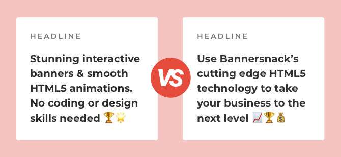 headline comparison bannersnack