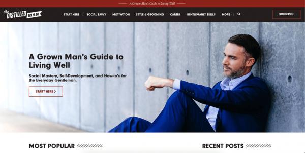 Masculine Website Design