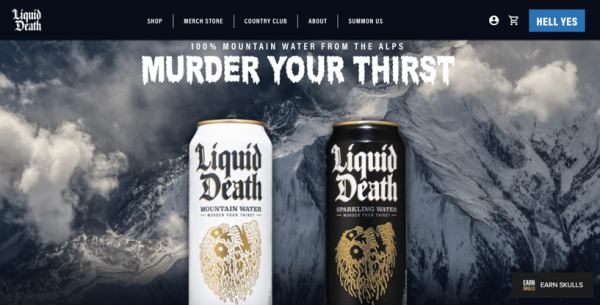 Liquid Death Bottled Water