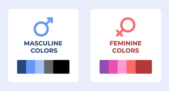 feminine colors masculine colors
