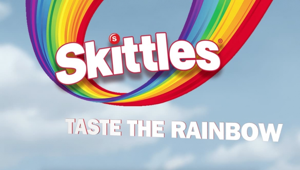skittles taste the rainbow slogan