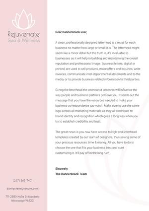 Rejuvenate Cover Letter