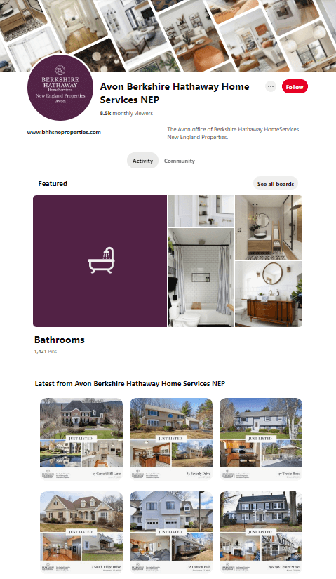 Avon Berkshire Pinterest Page