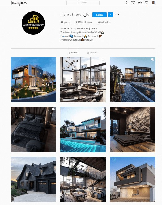 Luxury Homes Insta Page