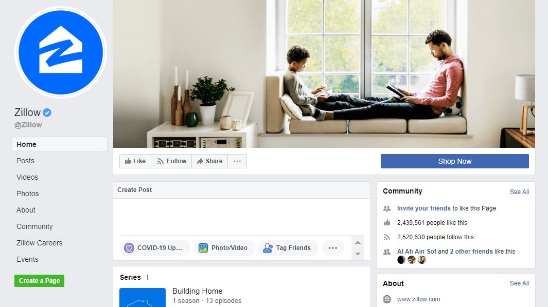 zillow facebook page