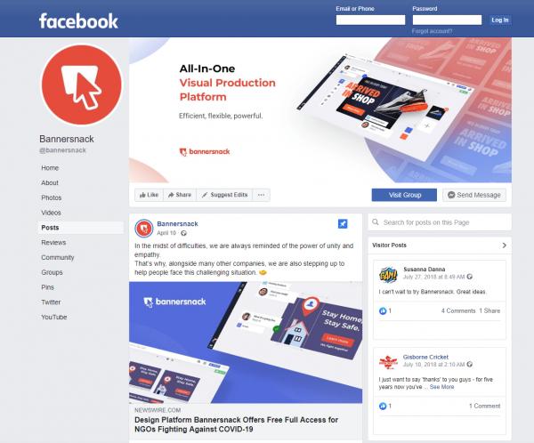 Bannersnack Facebook Profile