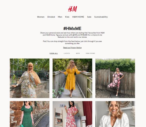 H&M User Generated Content