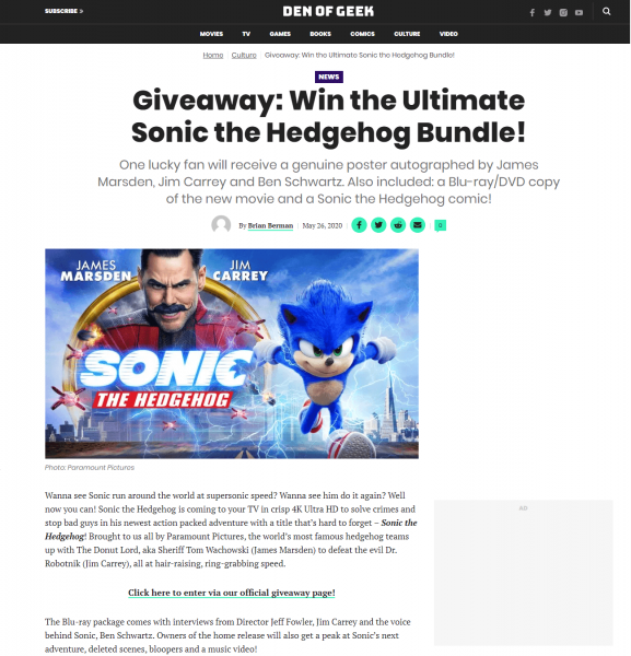 Giveaway Content Example