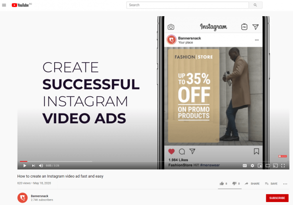 YouTube Visual Content Example