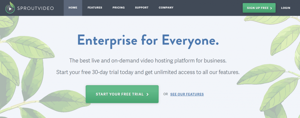 sproutvideo premium video hosting site