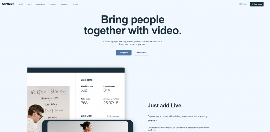 vimeo free video hosting site