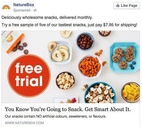 Nature Box circles ad example
