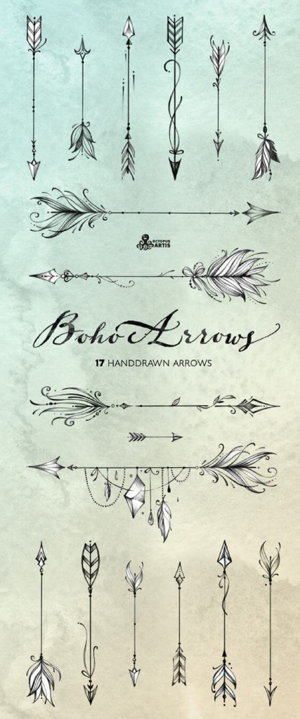 decorative arrow shapes