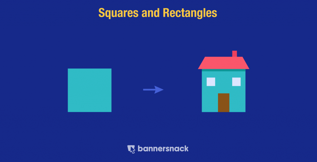 Square geometric shapes