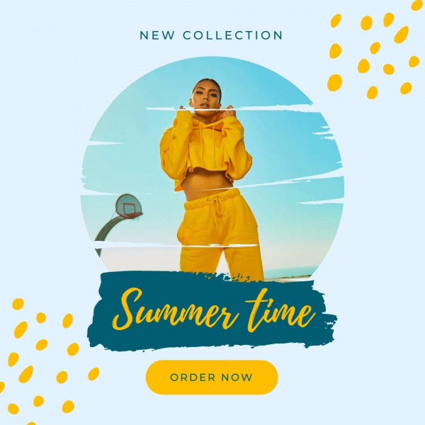 clipping mask example summer campaign