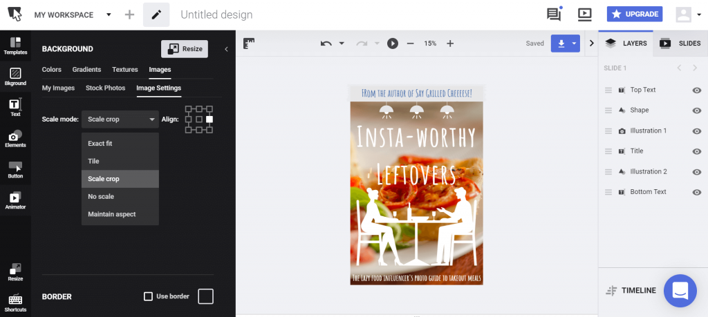 Add elements on your book cover