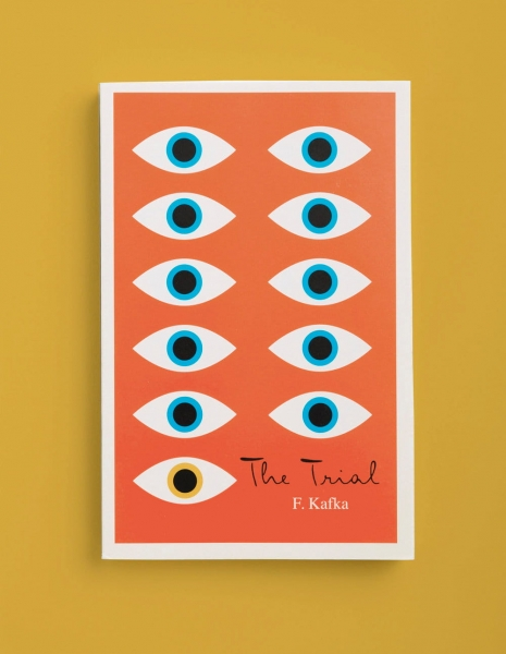 The Trial minimalist book covers