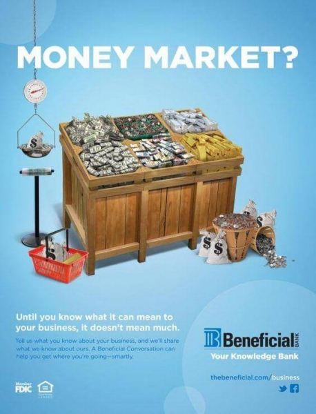 Beneficial Bank Money Market ad example