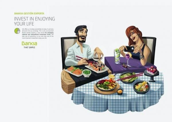 Bankia's ad example