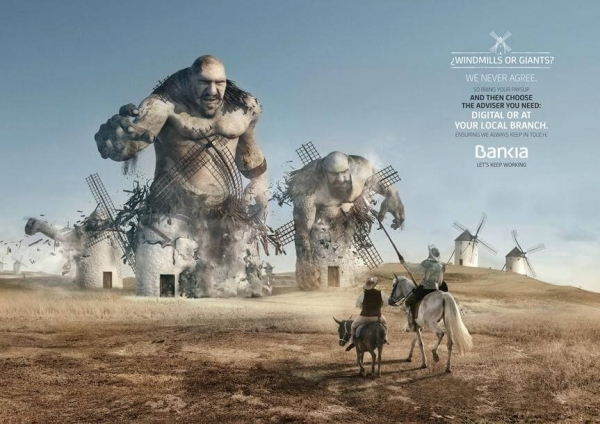 Pension Plan Bankia Ad Example