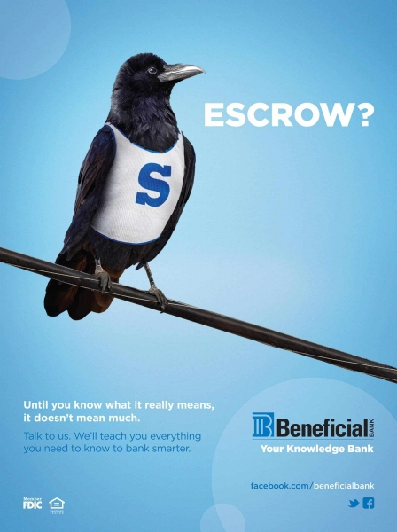 escrow beneficial bank