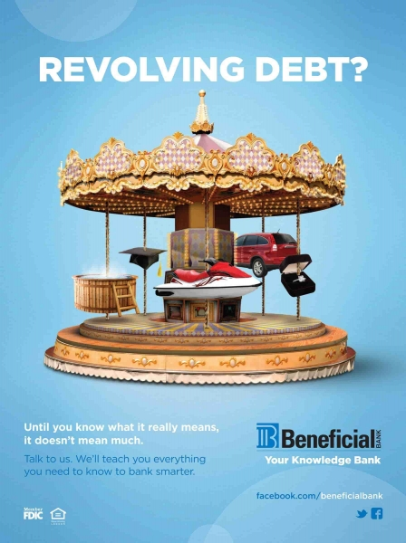beneficial bank revolving debt