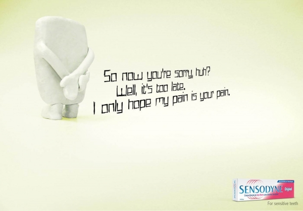 Sensodyne Teeth Poster Example