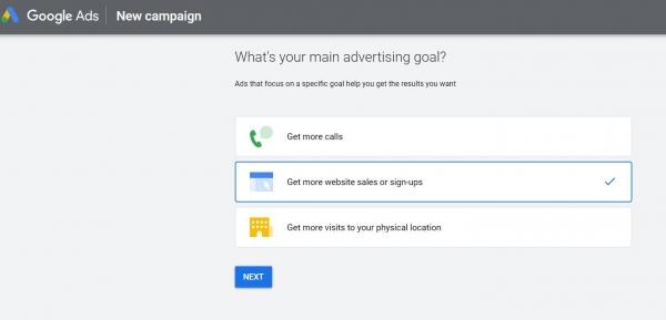 google ads start