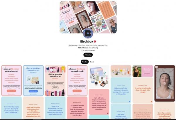 birchbox pinterest feed