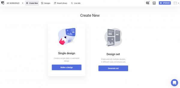create new on bannersnack