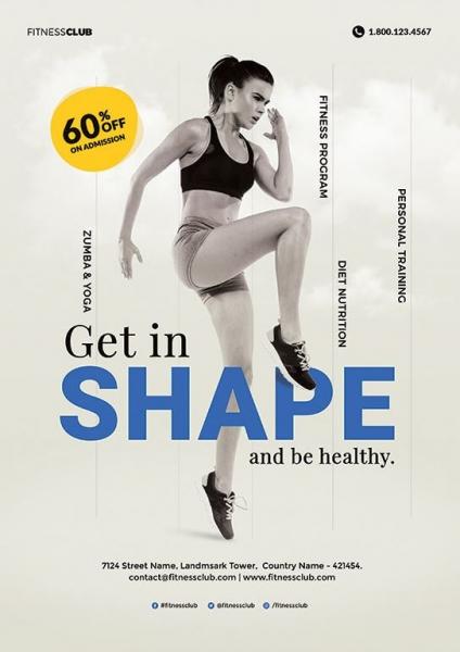 get in shape leaflet
