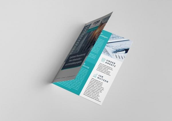 half-fold brochure design
