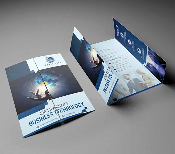 gate-fold brochure design