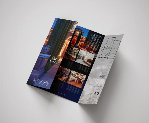warm tones brochure design