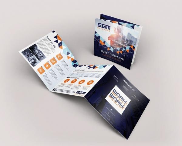 brochure design matching website