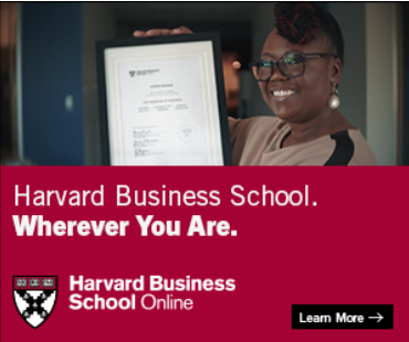 harvard business school banner