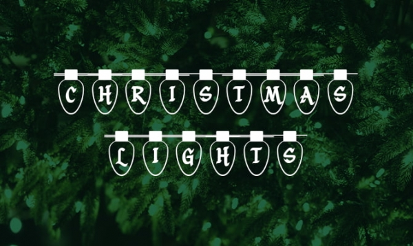 christmas lights free font
