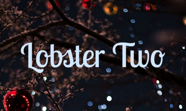 lobster two xmas font
