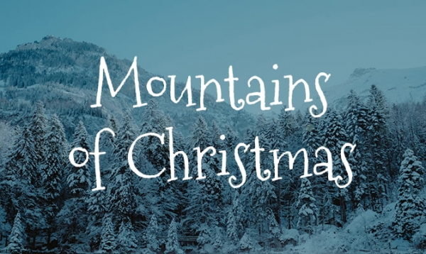 mountains of christmas festive font