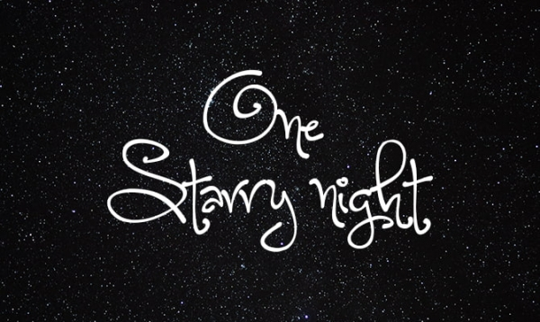 one strarry night christmas fonts free