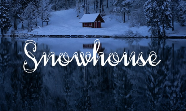 snowhouse free holiday fonts