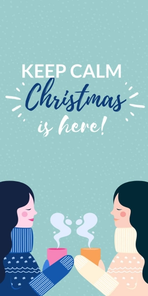 keep calm christmas is here poster template