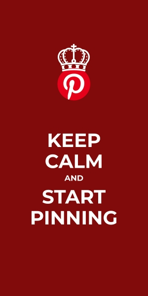 keep calm and start pinning poster template