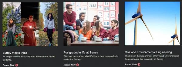 University of Surrey blog