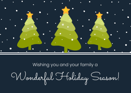 wonderful holiday season christmas card