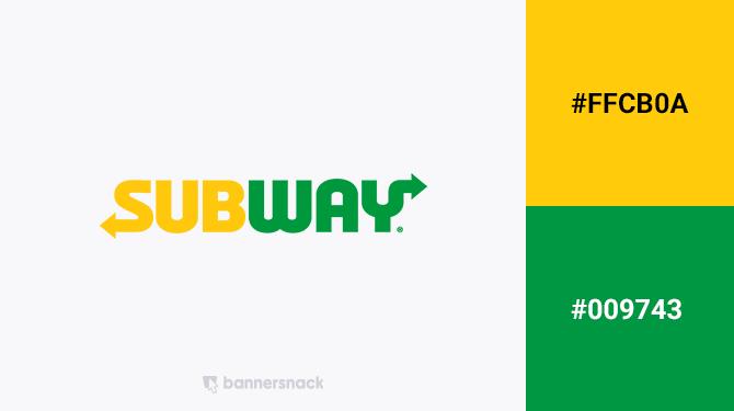 green and yellow logo subway
